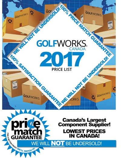 GolfWorks Canada 2017 Price List